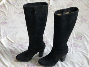 Details zu MARC O'POLO Damen Stiefel Leder Gr.37 US Size 6 women high heel leather boots