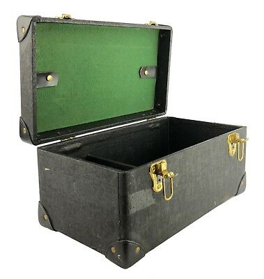Music Vtg Hinged Black Trunk Carrying Handle Buckle Closure Vinyl Reinforced Corners Factory Direct Selling Price