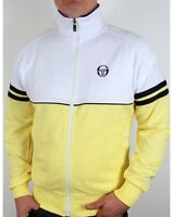 Sergio Tacchini Orion Track Top in White Yellow & Navy - retro 80s casuals