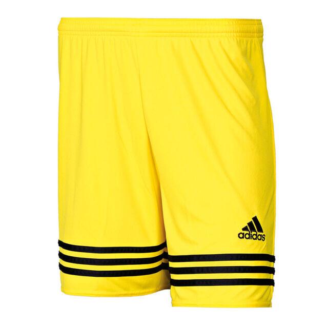 Adidas entrada 14 pantalones cortos hombre negro amarillo F50630 ... f5aa113d5e67
