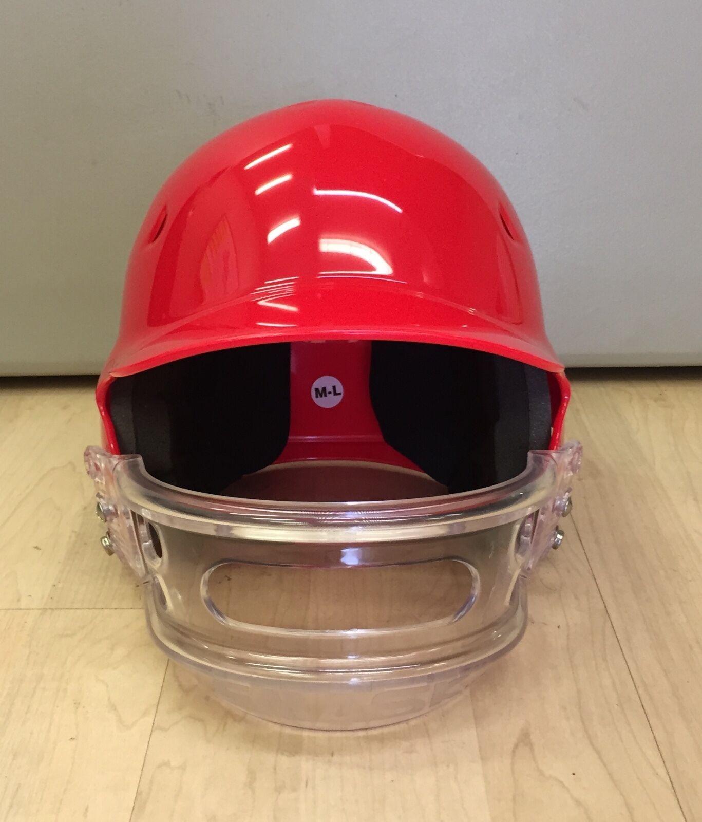 E Mask 100 MPH Batting Helmet - RED