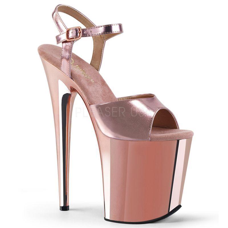 i nuovi stili più caldi PLEASER PLEASER PLEASER Plateau Sandali Flamingo - 809 Bronzo Gogo Tabledance POLEDANCE estremamente  garanzia di qualità