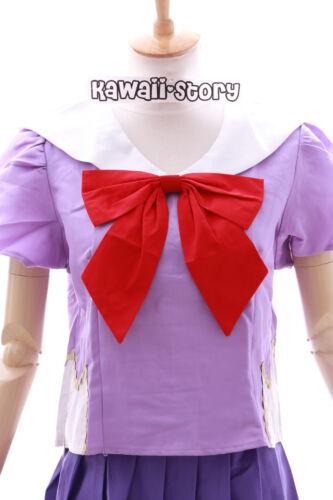 MN-01 Mirai Nikki Yuno Gasai Purple School Uniform Cosplay Costume Set