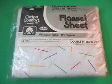 Vintage Flannel Sheet Cotton Comfort Double Fitted Sheet BIBB Chrome Antics