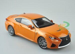 Image Is Loading 1 18 Lexus RCF Orange Diecast Model Car