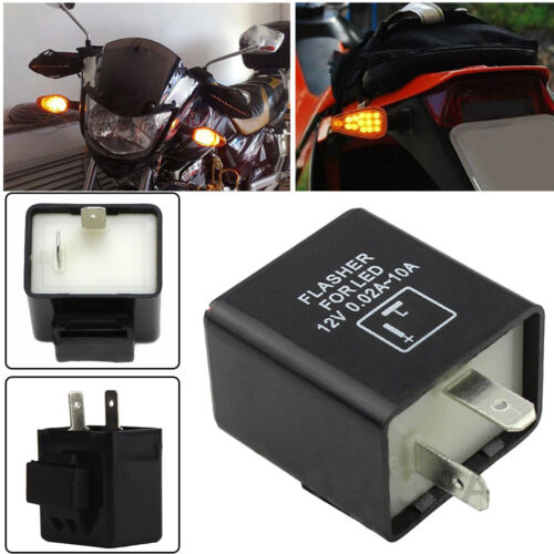 2-Pin LED Flasher Relay Fix For Honda Suzuki Turn Signal Light Fast Hyper Flash