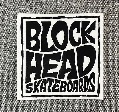 Blockhead Skateboard Sticker 3in BLOCKHEAD si