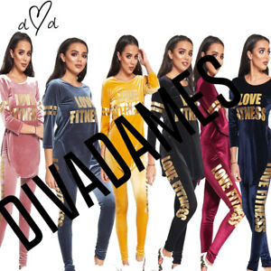 JUSTYOUROUTFIT-Womens-TS2297-Velvet-Love-Fitness-Tracksuit