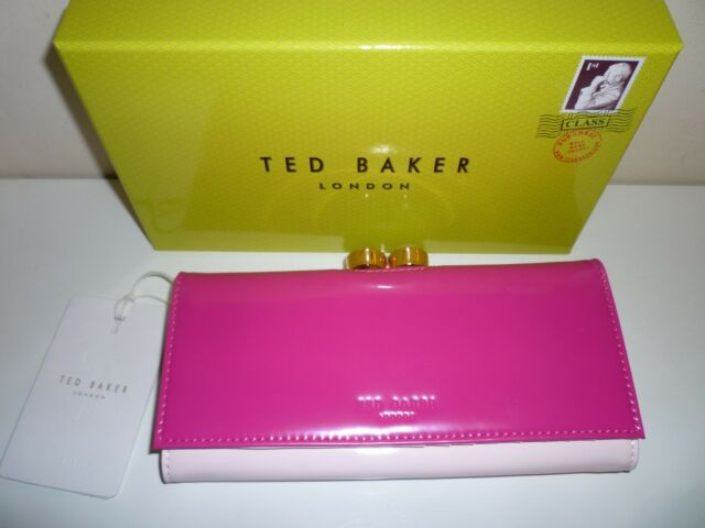 edd235a5ca0 Ted Baker Ladies Large Patent Matinee Purse Fuchia Pink New in Gift Box