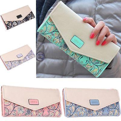 Women Envelope Purse Leather Long Wallet Card Holder Clutch Bag Handbag Gift HOT