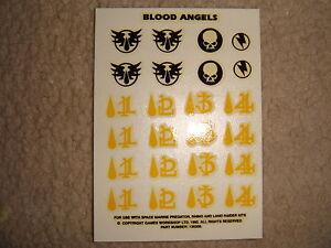 2019 DernièRe Conception Warhammer 40k Blood Angel/blood Angels Transfert Ee Épuisé Rare-afficher Le Titre D'origine Les Couleurs Sont Frappantes