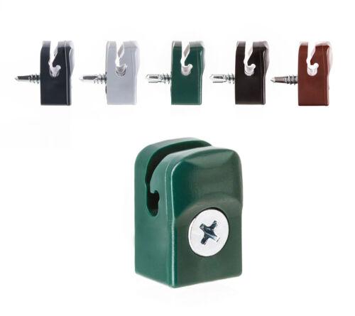 Spanndrahthalter mit Schraube 5,10,25,50,100er Set Maschendraht Spanndraht
