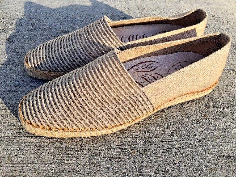 SALE @ EASY SPIRIT Genuine COMFORT Canvas Ballet Flats Loafers shoes Women Sz 10