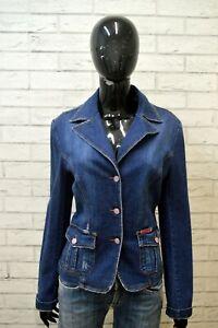 DOLCE-amp-GABBANA-Giacca-in-Jeans-Blu-Donna-Taglia-L-Blazer-Giubbino-Jacket-Women