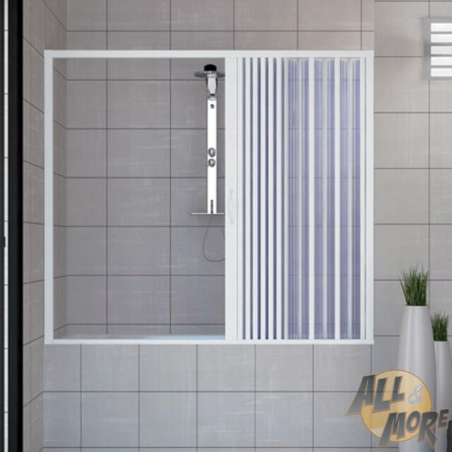 Over Bath Shower Enclosure Plastic PVC Folding Side Opening Doors ...