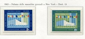 19053-UNITED-NATIONS-New-York-1963-MNH-Nuovi-New-Building-of-UNO