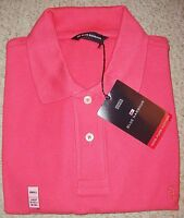 Mens Coral Pink Cotton Polo Shirt From Marks And Spencer Size S -xxl