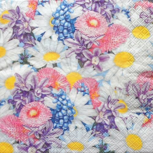 4 x Single Paper Napkins Spring Flowers for Decoupage Crafting Table 8