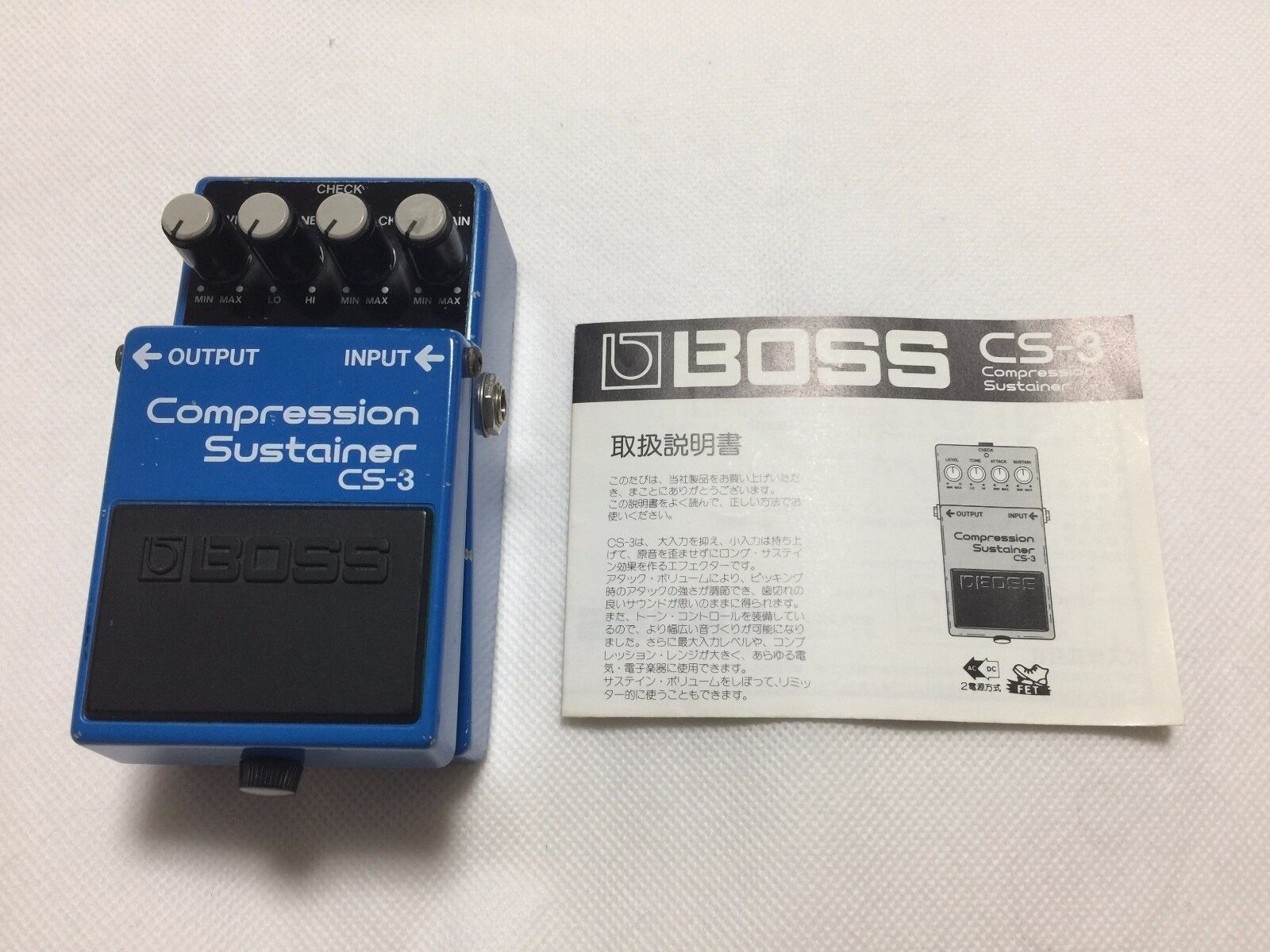 Used  BOSS CS-3 Compression Sustainer Vintage Guitar Effect Pedal Made in Japan