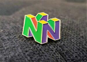 Nintendo-64-Logo-Pin-N64-Enamel-amp-Metal-Promo-Lapel-Pin-90s-Video-Game-Display