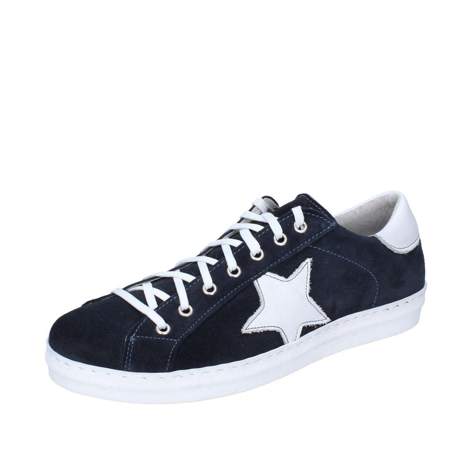 Men's shoes OSSIANI 8 (EU 42) sneakers blue suede BJ65-42