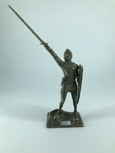 Statua Scultura Alberto Da Giussano Condottiero Bronzo Fermacarte Da Scrivania Forte RéSistance à La Chaleur Et à L'Usure