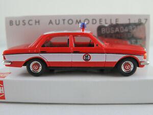 Busch-46856-mercedes-benz-W-123-sedan-1976-034-bomberos-hamm-034-1-87-h0-nuevo-en-el-embalaje