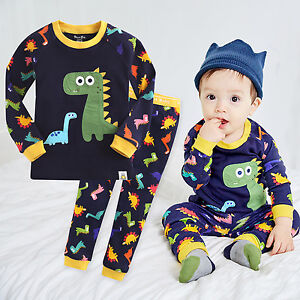 ec9f7af2 Details about NWT Vaenait Baby Infant Toddler Kids Boys Clothes Pajama Set