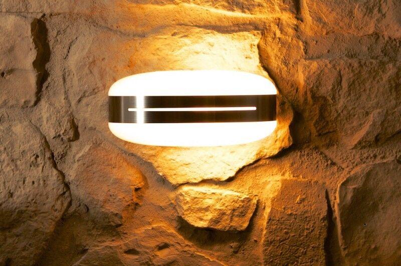 Design Lampada Muro Acciaio Inox candelabro Aussenwandlampe Lampada da parete di Philips