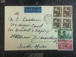 1939 Siauliai Litauen Luftpost zu Johannesburg Südafrika
