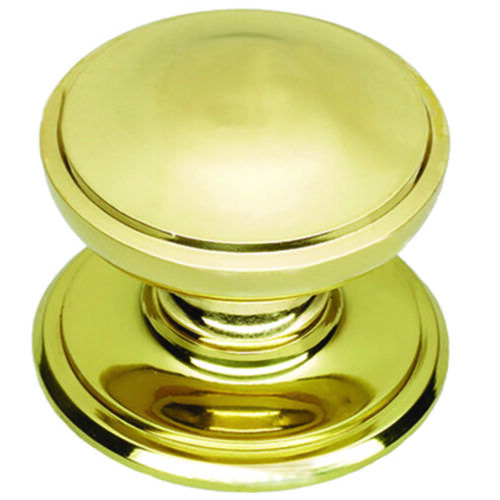 Centre Door Knob 125mm Polish Brass finish