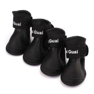 4pzs-Zapatos-botas-impermeables-de-lluvia-de-perro-Accesorios-para-perro-de-T1V2