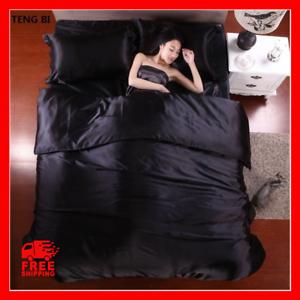 Pure-Satin-Bedding-Sets-Comforter-Bed-Set-Pillow-Duvet-Cover-Bed-Sheet-100-Silk