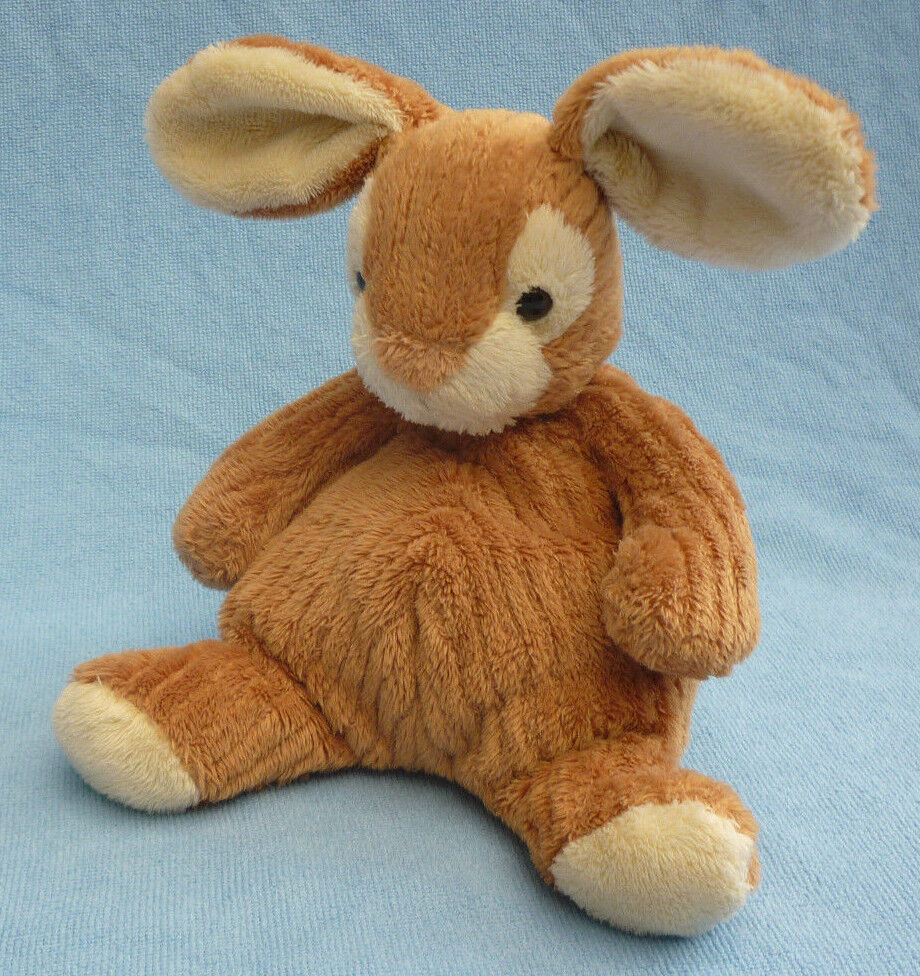 JOHN LEWIS CREAM TAN BROWN RIBBED BUNNY RABBIT FLOPPY SOFT TOY APPROX 7  PLUSH
