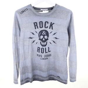 PEPE JEANS Boys Shirt Longsleeve Grau Rock Gr. 14 164