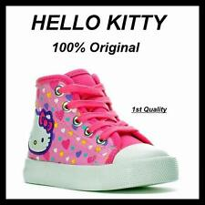 BRAND NEW ORIGINAL HELLO KITTY Hearts Girls Toddler Hi Top Shoes size 9 Free S&H