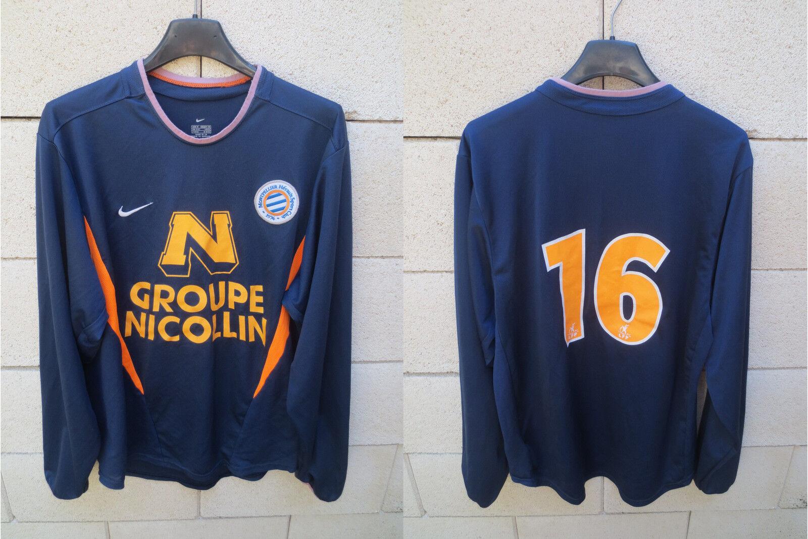 Maillot porté n°16 MONTPELLIER NIKE MHSC vintage match worn shirt football