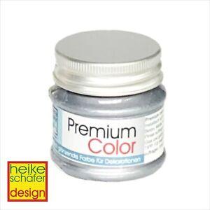 Premium-Color-Metallic-Farbe-50ml-in-Silber-Neu-Heike-Schaefer-Design