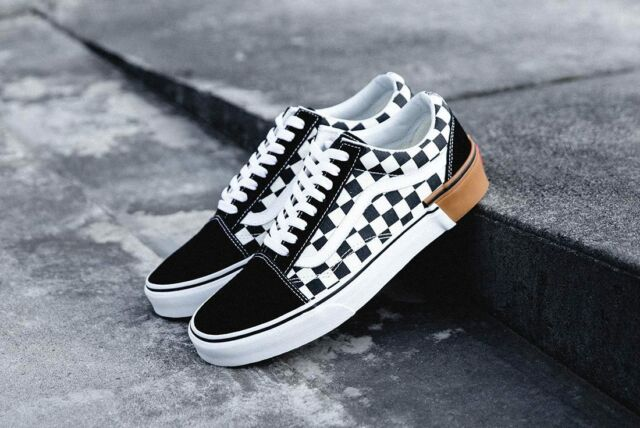 a30f73f417 VANS Old Skool Gum Block Checkerboard Men s Shoes 12 for sale online ...