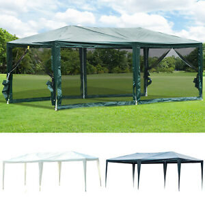 10-039-x-20-039-Gazebo-Canopy-Cover-Tent-Patio-Party-w-Removable-Mesh-Side-Walls