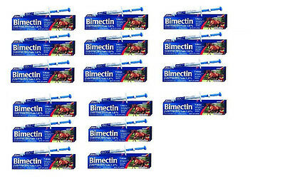 Bimectin ivermectine 1.87/% pâte 16 tubes vers Bots parasites Apple Equine OTC