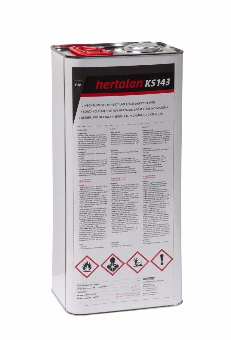 Hertalan ks143 6kg Flächenkleber EPDM Kleber für Dachfolie Dach Folie Carport