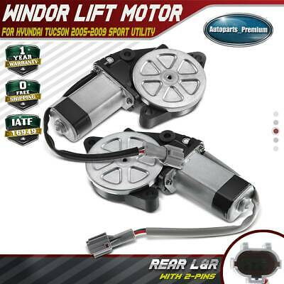 A-Premium Power Window Lift Motor Without Anti-Clip Function Replacement for Hyundai Tucson 2005-2009 Rear Driver Side