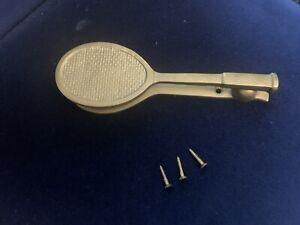 Solid Brass Tennis Racquet Door Knocker