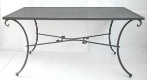Tavolo In Ferro Battuto Da Esterno : Tavolo in ferro battuto rettangolare 160x90xh76