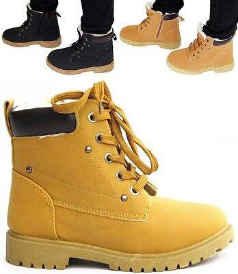 Kinder Winter Boots Wander Outdoor Schuhe warm gefüttert Schnürsenkel Turnschuhe