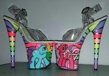 CUSTOM My Little Pony Pleaser Flamingo 8 inch rainbow pole exotic dance heels