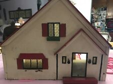 Antique RICH TOYS STROMBECKER MASONITE DOLLHOUSE or Handmade Look a like
