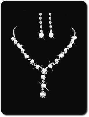 Set Gioielli Collier Collana Orecchini Ciondolo Cristallo/perle Imität Sposa-n Imität Braut It-it Mostra Il Titolo Originale
