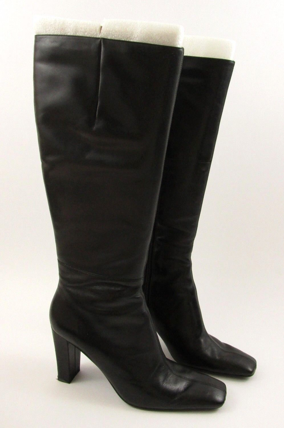Bandolino Womens Riding Boots Black Leather Size 8.5 M US Joreen Knee High 145